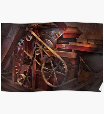 Steampunk - Gear - Belts and Wheels  Poster