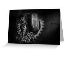 Steampunk - Gear - Hoist and chain Greeting Card