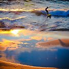 Blue and Gold Reflections by Jill Fisher