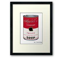 Appell's Mac chunks Street Art by Dashiner Framed Print