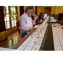 Wine Judging at the 2015 Canberra International Riesling Challenge Photographic Print