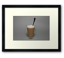 Coffee latte Framed Print
