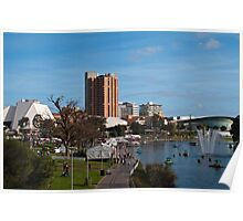River Torrens Precinct, Adelaide, South Australia Poster