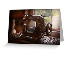 Sewing Machine - Leather - Saddle Sewer Greeting Card