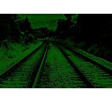 neon track Photographic Print