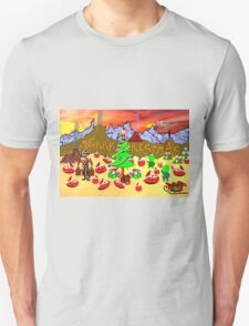 A Christmas Party on the Flying Saucer Frog Planet T-Shirt