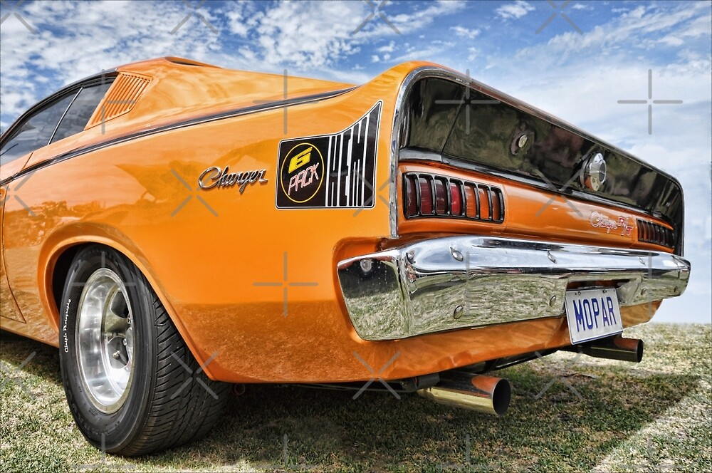 Orange Charger 6 Pack Hemi by Clintpix