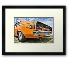 Orange Charger 6 Pack Hemi Framed Print