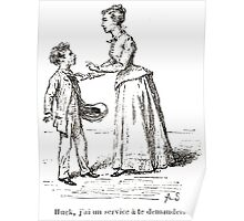 Achille Sirouy Mark Twain Les Aventures de Huck Huckleberry Finn illustration p127 Poster