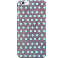 Tourquise and purple Polka dots iphone case iPhone Case/Skin