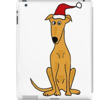 Cool Funky Greyhound Sitting with Santa Hat iPad Case/Skin