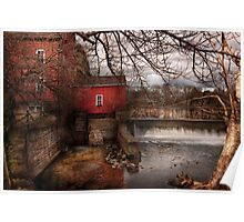 Mill - Clinton, NJ - The mill and wheel Poster