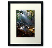 Cades Cove Breaking Light Framed Print