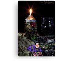Oil Lamp Wine Canvas Print