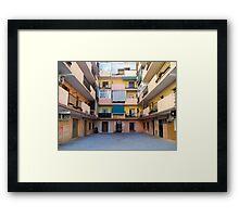 Apartments. Framed Print