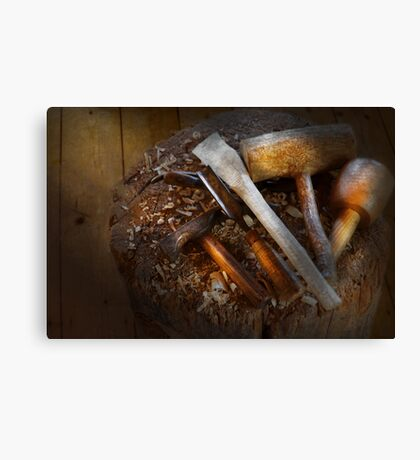 Carpentry - Tool - Tools for carving Canvas Print