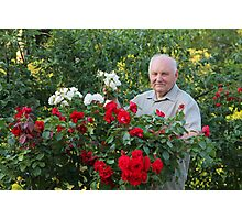 Grower of roses Photographic Print