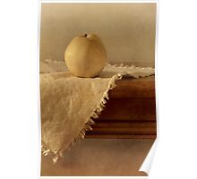 apple pear on a table Poster