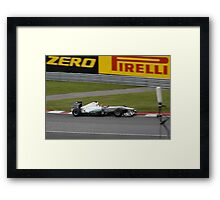 Formula 1 in Montreal 2011 Mercedes Michael Schumacher Framed Print