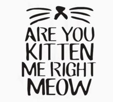 Are You Kitten Me Right Meow Kids Clothes