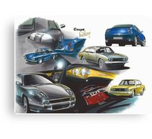 Fiat Coupe History Canvas Print