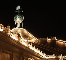 A Snippet of Brighton Pier at Night by Astrid Ewing Photography