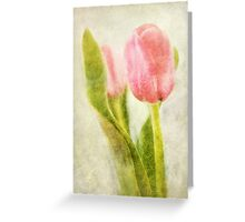 Textured Tulip Greeting Card