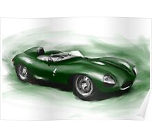 Jaguar D-Type Poster
