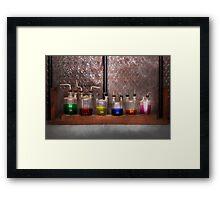 Science - Chemist - Glassware for couples Framed Print