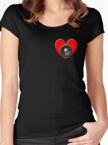Subwoofer Heart Women's Fitted Scoop T-Shirt