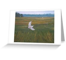 The Sentinal-Egret Sanctuary Greeting Card