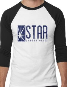 STAR Labs - Blue- Grunge Men's Baseball ¾ T-Shirt