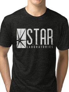 STAR Labs - White - Grunge Tri-blend T-Shirt
