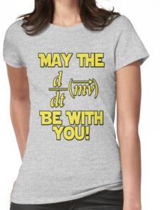 May The Force Be With You! Physics Geek Womens Fitted T-Shirt