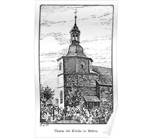 Georg Lilie Moehra Kirche Poster