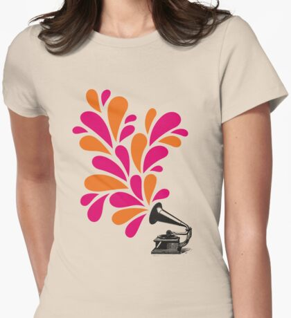 Groove is in the Art Womens Fitted T-Shirt