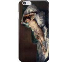 Maja's Goya as a suicide girl Street Art iPhone Case/Skin