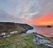 Cornwall: A Golden Finale at Trebarwith Strand by Rob Parsons