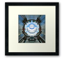 Cardiff bay, Wales.  A small world Framed Print
