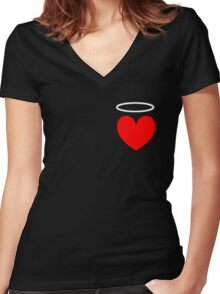 Haven's Heart Women's Fitted V-Neck T-Shirt