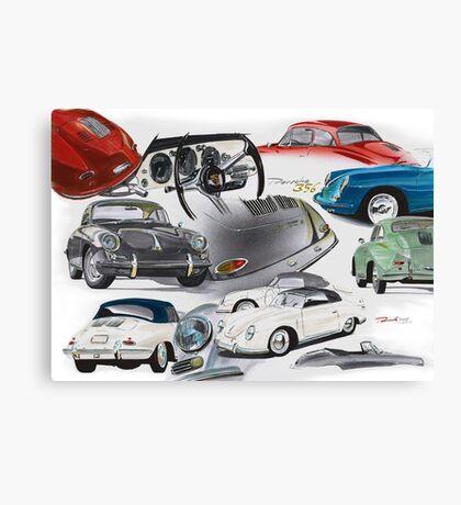 Porsche 356 History Canvas Print