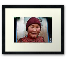 Lady at Kupup Framed Print