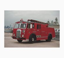 0285 Little Red Fire Truck One Piece - Long Sleeve