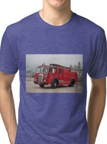 0285 Little Red Fire Truck Tri-blend T-Shirt