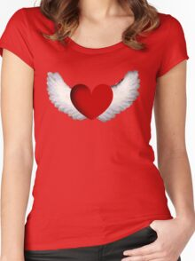 Heart with Wings Women's Fitted Scoop T-Shirt