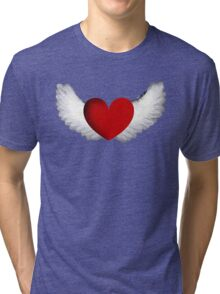 Heart with Wings Tri-blend T-Shirt