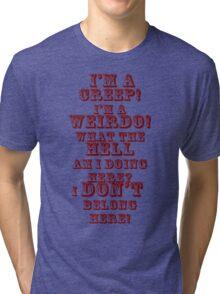 creep red Tri-blend T-Shirt
