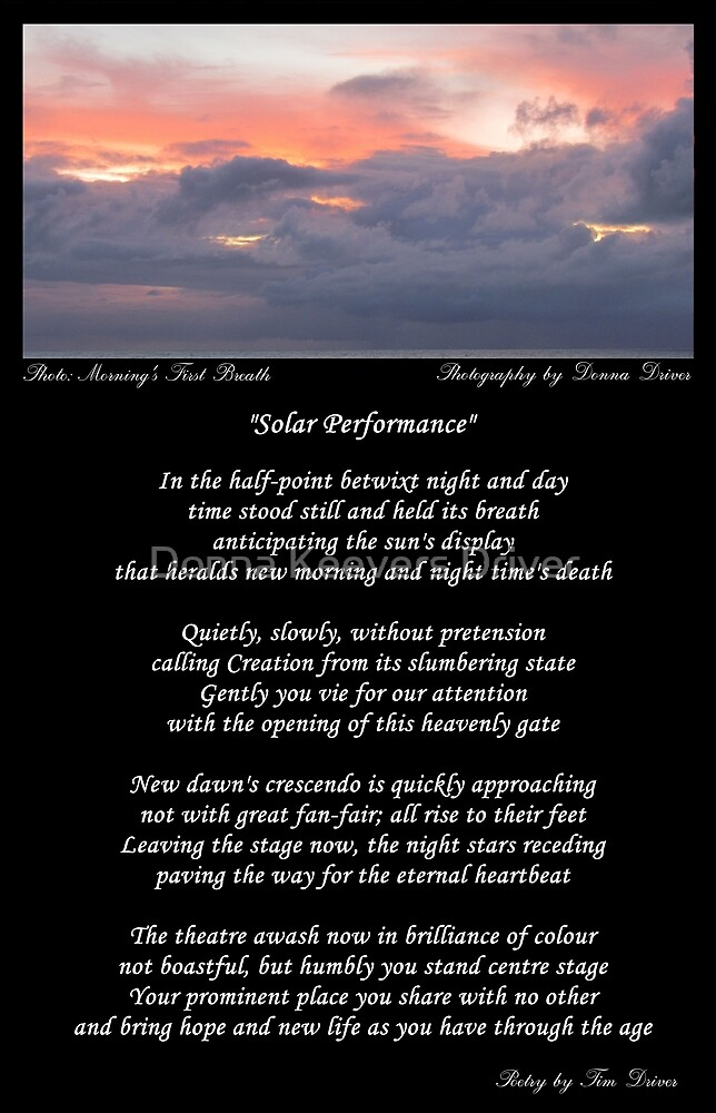 ~ Solar Performance ~ A collaboration with Tim O Driver by Donna Keevers Driver