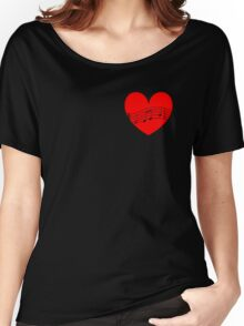 Musician's Heart Women's Relaxed Fit T-Shirt