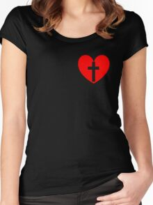 Christian Heart Women's Fitted Scoop T-Shirt